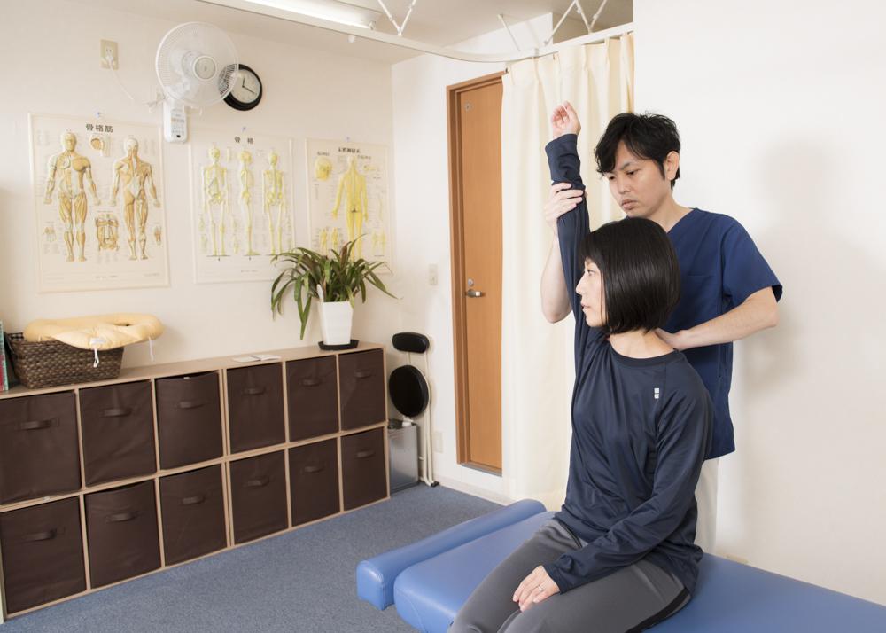 肩の可動範囲の確認